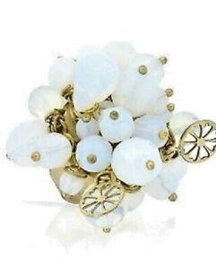 Pilgrim Ring mit Perlen u. goldenen Elementen, vergoldet, pasend für alle Größen
