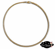 """16"""" Gold Tone 4mm Wide Omega Choker Chain Necklace (CO2)"""
