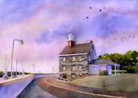 Selkirk Lighthouse, Salmon River, Lake Ontario, New York. James Mann Art Prints