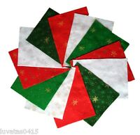 Christmas Glitter Frozen Snowflakes Acrylic Felt Sheets 23 x 30 cm - Pack of 2