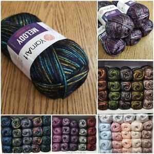 YarnArt Melody Shiny Satin Soft metallic aran knitting yarn 100g all colours
