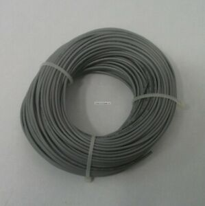 22 AWG tinned copper stranded hook up wire, 100 feet Gray UL1007