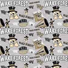 NCAA Wake Forest University Mascot WF-1164 Cotton Fabric by the Yard
