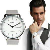 Luxury Men's Business Quartz Wrist Watch Stainless Steel Boy Sports Analog Watch