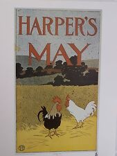 "HARPER'S MAY by Edward Penfield (22 1/2"" x 17 1/2"")"