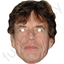 Mick Jagger, Rolling Stones Celebrity Singer Card Mask.Masks Are Pre-Cut***