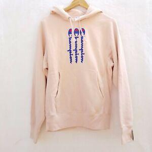 NWT Champion Sz S 3 Line Logo Reverse Weave Rose Hoodie Sweatshirt Pullover