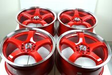 17 red Wheels Rims RSX Civic Accord Soul Mazda 3 5 6 Camry Protege 5x100 5x114.3