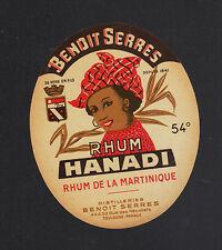 "TOULOUSE (31) ETIQUETTE RHUM HANADI ""Distillerie BENOIT SERRES"""