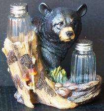 "Beary Best Spice Bear Salt n Pepper Shakers Statue Figurine H6.25"""
