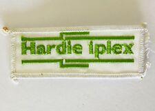 Hardie iplex Construction Building Products Patch Badge Vintage Original (P9)