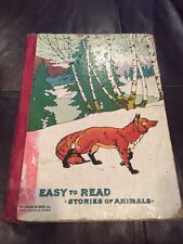 Vintage Easy to Read Stories of Animals McLoughlin Bros. Inc. Springfield, MA