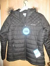 NEW COLUMBIA Ladies L WINTER PUFFER JACKET $160 RV Kissimmee Black