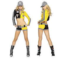 Women Racing Girls Costume Women Car Driver Nascar Racer F1 Halloween Costume