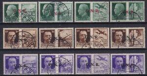 1944 GNR TIRATURA VERONA PROPAGANDA NR.13/24 SERIE COMPLETA 12 VALORI USATO RR
