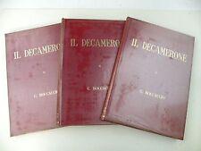 IL DECAMERONE - GIOVANNI BOCCACCIO - 3 LIBRI - DCM 1966 - BUONO - L8