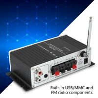 Bluetooth Digital Audio Speaker Power Amplifier FM Radio/Remote/USB/MP3/LED AMP