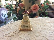 Blue Sky August Peridot Heather Goldminc Hinged Cake 2002 Trinket Box