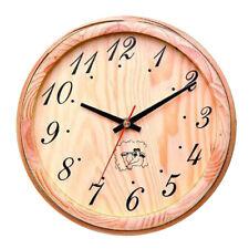 Modern Wooden Sauna Clock Decorative Wall Clock for Kitchen Office Bedroom