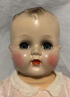 "Vintage Unmarked Hard Plastic Baby Doll Magic Skin Body 22"""