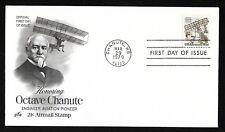 #C94 21c Octave Chanute - Biplane Hang-glider- ArtCraft FDC