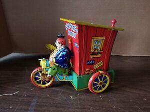 Vintage HUMPHREY MOBILE Wyandotte Joe Palooka Tin Litho Wind-up Toy WORKS