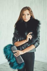 Real Fur Clutch Fur Handbag Bags Fur Tote Bag Womens Purse Accessories (Emerald)