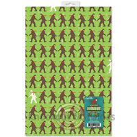 Winter Bigfoot Wrapping Paper Wrap Party Gift Present Décor Sheet Sheets Quality