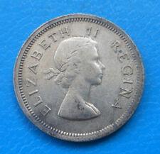 Afrique du sud South Africa 6 pence argent 1953 km 48