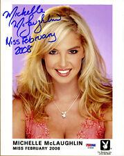 Michelle McLaughlin SIGNED 8x10 Photo 2008 Playboy Playmate PSA/DNA AUTOGRAPHED
