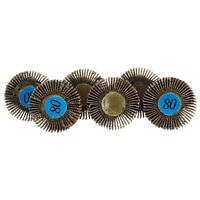10pcs 80 Grit Sanding Sandpaper Flap Wheel Disc For Dremel Rotary Tools Set