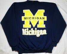 Vintage Universirty of Michigan College Sweatshirt XL USA 50/50 Navy Crewneck