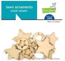 Lawn Fawn Embellishments ~ Wood Veneer ~ STARS Heavens, Sky, Baby  ~15ct ~LF870