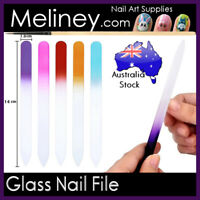 Glass Nail File sanding buffer manicure art tool Double sided Tool Coloured