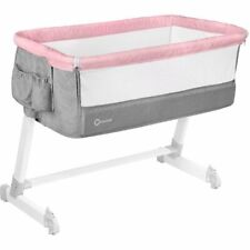BABY Crib Bedside Cot bed Lionelo Theo Pink Mattress Mosquito Next to Me