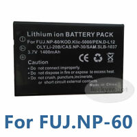 Battery fit INSIGNIA NS-DCC5HB09 NSDCC5HB09 NP-60 NP60