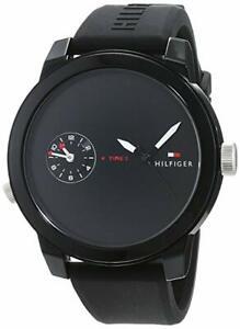 Armbanduhr Tommy Hilfiger Herrenuhr Datum Quarzwerk Silikon Dornschließe black