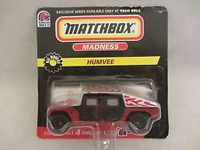 Matchbox Madness  Big Movers  Humvee  Taco Bell  NOC 1:64 Scale  (517)