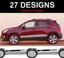 chevrolet trax side stripes decals stickers graphic side stripe