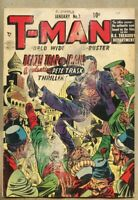 T-Man #3-1952 gd 2.0 Quality Comics Reed Crandall Harry Anderson