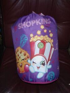 Shopkins Sleeping Reversible Slumber Bag For Kids pink/purple.& Carry Sack new