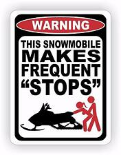 Snowmobile Frequent Stops Warning Decal Sticker Funny Sexy Girl Race Sled Snow
