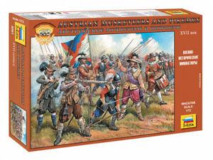 Austrian Musketeers and Pikemen 17th Century8061 ZVEZDA 1:72 New!