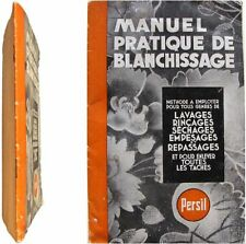Manuel pratique de Blanchissage c1950 Institut Persil méthode lavage lessive