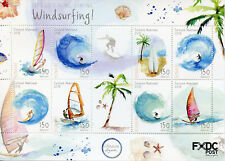 Dutch Caribbean Bonaire 2018 MNH Windsurfing 8v M/S Surfing Palm Trees Stamps