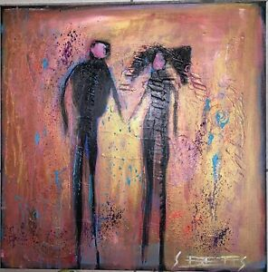 SUE BETTS 'Together'  Abstract Painting