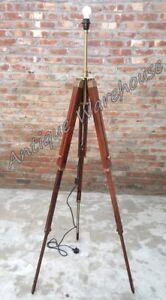 Handmade Wooden Three Fold Tripod Stand Modern Floor Shade Lamp Tripod Stand