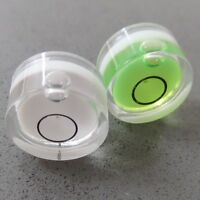 2 White & Green Small Tiny Spirit Bubble Level Round Jewellers Tool Vial D15mm