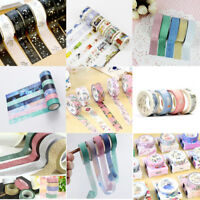 5/7/8M Washi Tape Set ing Tape Scrapbook Decor Paper Adhesive Sticker new
