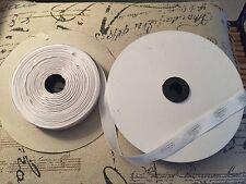 COACH LOGO WHITE SILVER METALLIC SATIN RIBBON SPOOL ROLL AUTHENTIC